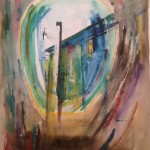 powerline watercolor
